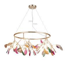 <b>Nordic</b> LED Pendant Lights <b>Creative</b> Design Color Agate Stone ...