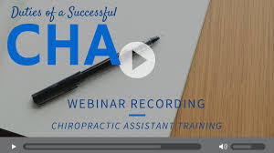 chiropractic assistant training duties of a successful cha chiropractic assistant training duties of a successful cha