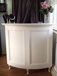 curved salon reception desk french style shabby chic painted cream boutique reception counter