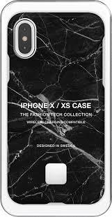 <b>Клип</b>-<b>кейс Happy Plugs</b> для Apple iPhone XS Black Marble black ...