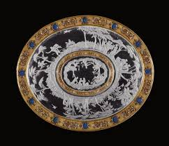 1570-90; 1570-80; 1580-90 Platter with the story of Hermaphroditus ...