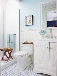 Unique White Country Bathroom Ideas Blueandwhite Cottage Better Homes Intended Decorating