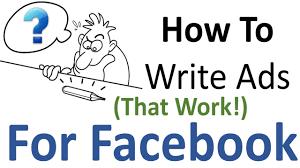 Image result for write ads for facebook