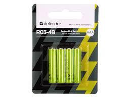 <b>Батарейка AAA Defender</b> R03-4B (56102)