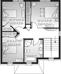 M da Park Narrow Lot Home Plan D    House Plans and MoreCountry House Plan Second Floor   D    House Plans and More
