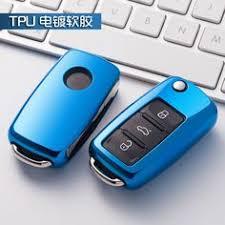 OkeyTech 3 <b>Button Flip Folding</b> Car <b>Key</b> Case Silicone Cover Fob ...