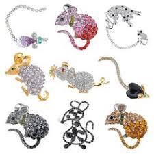 <b>Cute Crystal Pet</b> Fat Rat Mouse Mice Cheese Jewelry Pin Brooch ...
