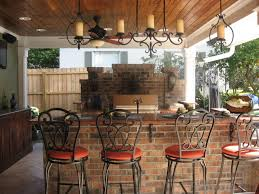 patio outdoor stone kitchen bar:  large size of kitchen captivating outdoor kitchen iron chandelier terra cotta countertop metal bar stool