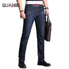 2019 <b>QUANBO 2019 New Summer</b> Men'S Jeans Stretch Thin Light ...