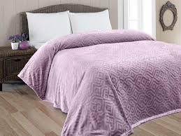 <b>KARNA</b> Плед вельсофт <b>GIZA</b> 220x240см Фиолетовый