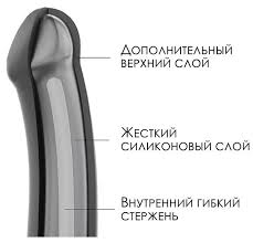 Strap-on-me <b>Фаллоимитатор из силикона</b> Bendable Dildo L, 19 см ...