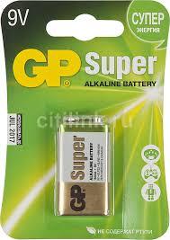 Купить 9V <b>Батарейка GP Super Alkaline</b> 1604A 6LR61 в интернет ...