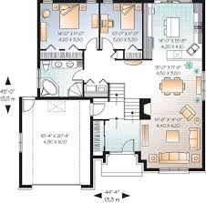 Graceful Split Level House Plan   DR   st Floor Master Suite    Floor Plan