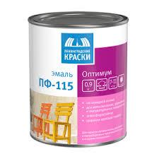 <b>Ленинградские Краски</b> Оптимум <b>ПФ 115 эмаль</b> белая матовая ...