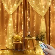3x3/6x3 <b>Remote Control icicle</b> Curtain Fairy Lights Christmas Lights ...