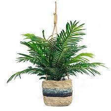 "30"" X 16"" <b>Artificial Phoenix Palm</b> Plant In Hanging Basket - LCG ..."