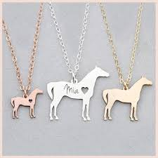 <b>SG 925 Sterling</b> Silver Horse Necklace <b>Personalized Custom</b> Pet ...