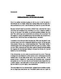 my first childhood memories essay
