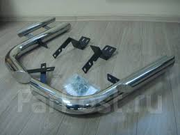 <b>Защита заднего бампера</b> (<b>Уголки</b>) Toyota Land Cruiser Prado 150 ...
