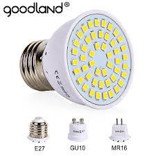 E27 LED Bulb <b>GU10 LED Lamp 220V</b> SMD 2835 MR16 Spotlight 48 ...