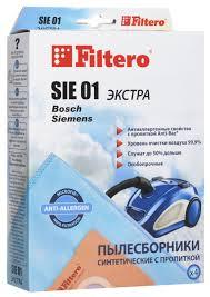 <b>Filtero SIE 01</b> Экстра <b>пылесборник</b> (4 шт) — купить в интернет ...