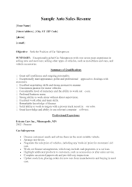 resume auto s car s executive cv