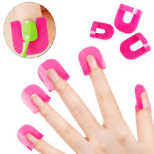 <b>26PCS</b> Manicure Nail Polish Shield <b>Protector Case Finger</b> Nails Art ...