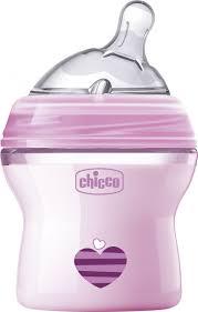 <b>Chicco Бутылочка</b> для кормления с силиконовой соской <b>Natural</b> ...