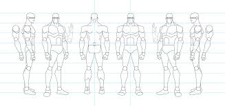 figure drawing turnaround template male by tammr on figure drawing turnaround template male by tamm3r