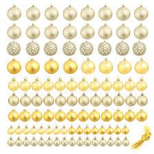 <b>100 Piece Christmas</b> Ball Set 6 cm Gold