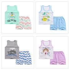 <b>2019</b> New Baby <b>Girls Vest</b> Sets Toddler <b>Boys</b> Cartoon Tops and ...