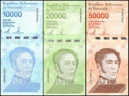 Venezuela 10000 - 50000 Bolivares <b>3 Pieces Set</b>, 2019, P-NEW, UNC