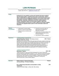 gallery of early childhood education resume template  special