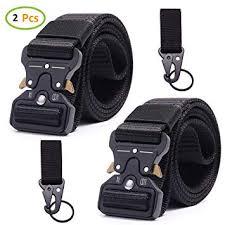 Sayopin Tactical Belt Heavy - 2 PCS Duty Nylon <b>Webbing</b> Waist Belt ...
