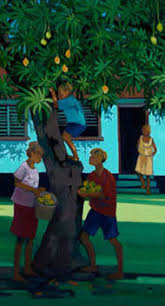 Image result for images for children plucking fruits from trees
