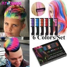 <b>Hot 6 Colors</b>/Set Temporary Hair Dye <b>Color</b> Chalk Comb for ...
