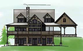 Bedroom Open Floor Plan   Wraparound Porch and Basementlakefront house plan   great views