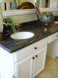 astounding granite bathroom vanity countertops white stained wooden cabinet using black flat eased edge profile