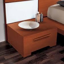 YumanMod Wynd 1 - Drawer <b>Solid</b> Wood <b>Nightstand</b> in <b>Brown</b> ...