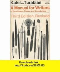 A Manual For Writers Of Term Papers  Theses  And Dissertations  rd Edition Revised Kate Pinterest