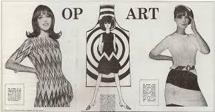 Resultado de imagen de op art y moda