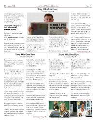newspaper templates print and digital com 4 column inside page