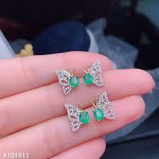 <b>KJJEAXCMY fine jewelry</b> natural Emerald 925 sterling silver women ...