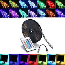 2/3/4/5m 5050 60SMD <b>RGB USB</b> LED <b>Light Strip</b> Bar TV Back ...