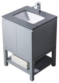 bathroom place vanity contemporary: emmet  vanity metal gray white sink gray quartz countertop bathroom vanities