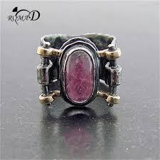 2019 <b>Romad</b> Fashion Personality Vintage Zircon <b>Zinc Alloy</b> Ring ...