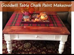 goodwill table chalk paint makeover thrift store furniture chalk paint coffee table
