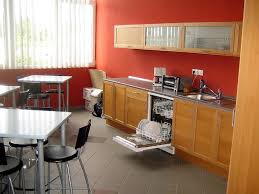 Office Kitchen Design Agreeable Modular Kitchen Design Ideas With L Shape And White Red