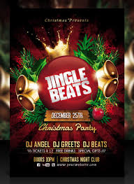 50 amazing christmas and new year s eve flyers for the holiday season jingle beats christmas party flyer template