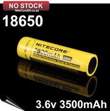 <b>BATTERY</b> - <b>3500mAh</b> 18650 Rechargeable <b>Li</b>-<b>ion</b> -